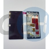 Huawei p7 lcd+érintő+keret - utángyártott, fekete  E006462