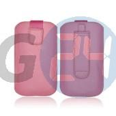 4g forcell egyszínű kihúzós tok babarózsaszín iPhone4/4s  E003936