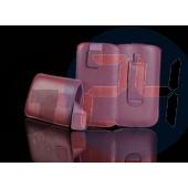 E52 telone egyszínű tépőzáras kihúzós tok light pink E52  E003023