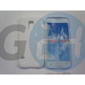 G800 galaxy s5 mini fehér hullámos szilikontok Galaxy S5  E006309