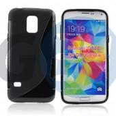 G800 galaxy s5 mini fekete hullámos szilikontok Galaxy S5 mini  E006254