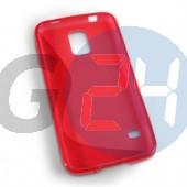 G800 galaxy s5 mini piros hullámos szilikontok Galaxy S5 mini  E006255