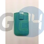 Lumia 610/710, i9070 telone egyszínű tépőzáras kihúzós tok türkiz zöld  E003035