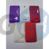 C1605 xperia e lila hullámos szilikontok Xperia E  E003700