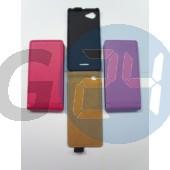S36h xperia l slim kinyitós tok pink Xperia L  E003798