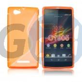 C1905 xperia m narancssárga hullámos szilikontok Xperia M  E004563