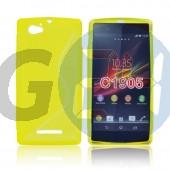C1905 xperia m sárga hullámos szilikontok Xperia M  E004523
