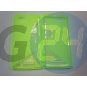 C1905 xperia m zöld hullámos szilikontok Xperia M  E004550