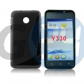 Huawei y330 fekete hullámos szilikontok Y330  E006088